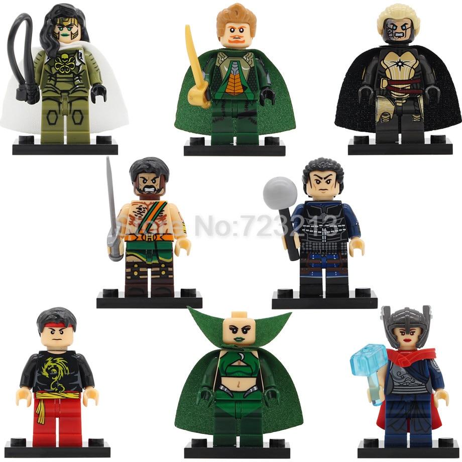 X0176 Super Hero Jane Foster Fandral Figure Shang-Chi Hogun Viper Malekith Heracles Thor Building Blocks Model Toys Legoing