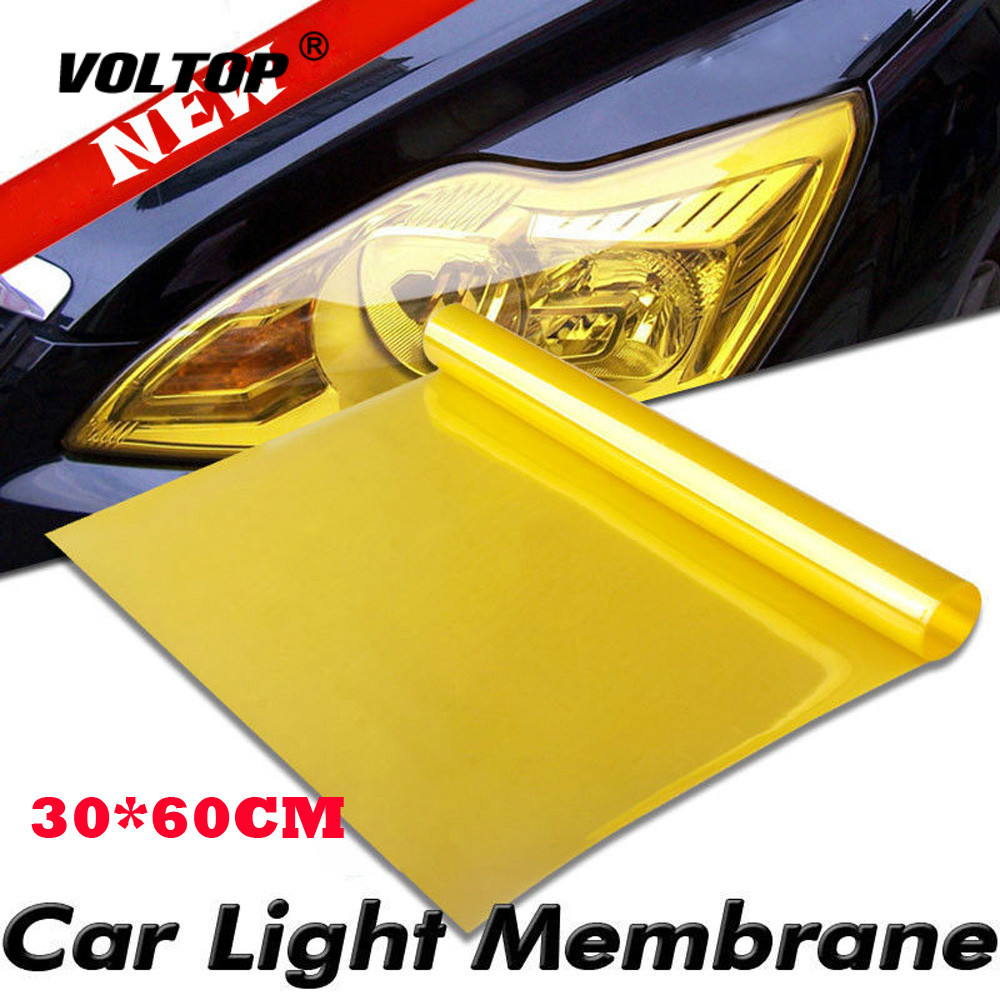 Image 2 - Vinyl Film Sheet Sticker Car Smoke Fog Light Headlight Taillight Tint Autocollant De Voiture Car Accessories Headlight Cover-in Car Stickers from Automobiles & Motorcycles