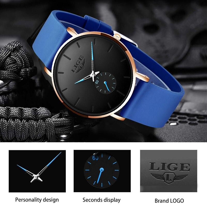 Relogio Masculino 2020 LIGE New Fashion Simple Mens Watches Top Brand Luxury Waterproof Quartz Wrist Watch For Men Best Gift+Box