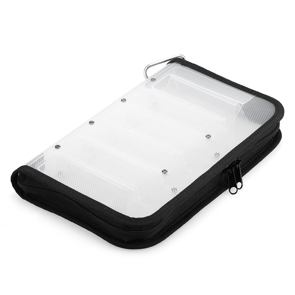 Waterproof Double Sided Fishing Lure Tackle Box Case for <font><b>Squid</b></font> <font><b>Jig</b></font> Hooks Storage Box Carrier <font><b>Bag</b></font> Case 12 Compartments image