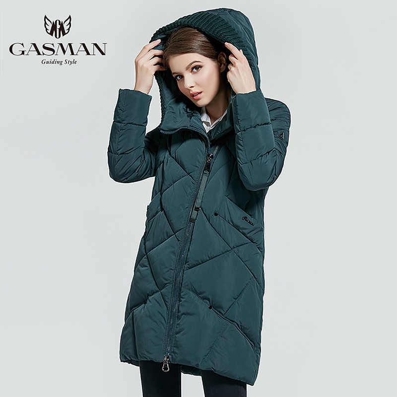 GASMAN 2019 kış koleksiyonu marka moda kalın kadınlar kış biyo aşağı ceketler kapşonlu kadın Parkas palto artı boyutu 5XL 6XL 1702