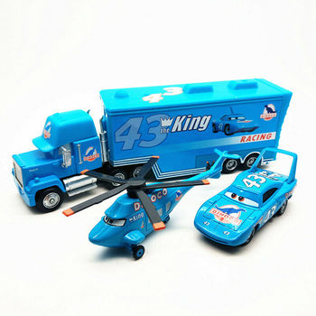 Disney Pixar Cars2 Cars3 #43 król Dinoco helikopter 1:55 Model odlewu zabawka samochód dzieci prezent