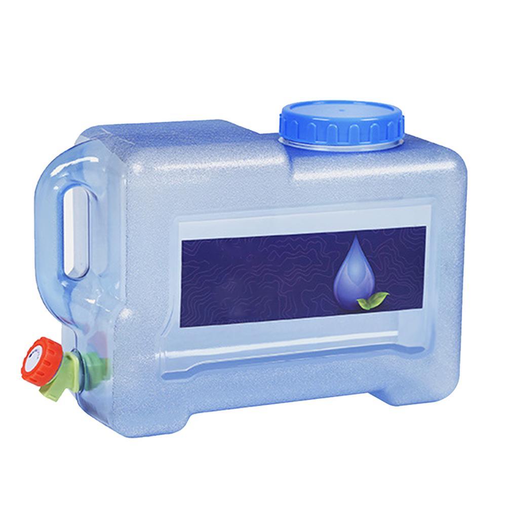 8l recipiente de agua do carro grau alimenticio com torneira pc casa balde armazenamento agua potavel