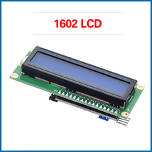 цена на S ROBOT LCD module Blue Green screen IIC/I2C 1602 for arduino 1602 LCD UNO r3 mega2560 LCD1602 RPI120