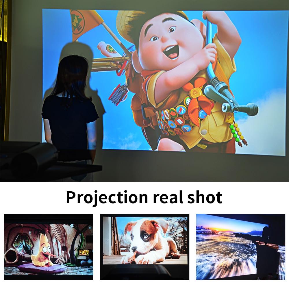CRENOVA Mini projector LED Full HD 1280x720 for 1080p Wireless Sync 2800 lumens Home Theater Video beamer