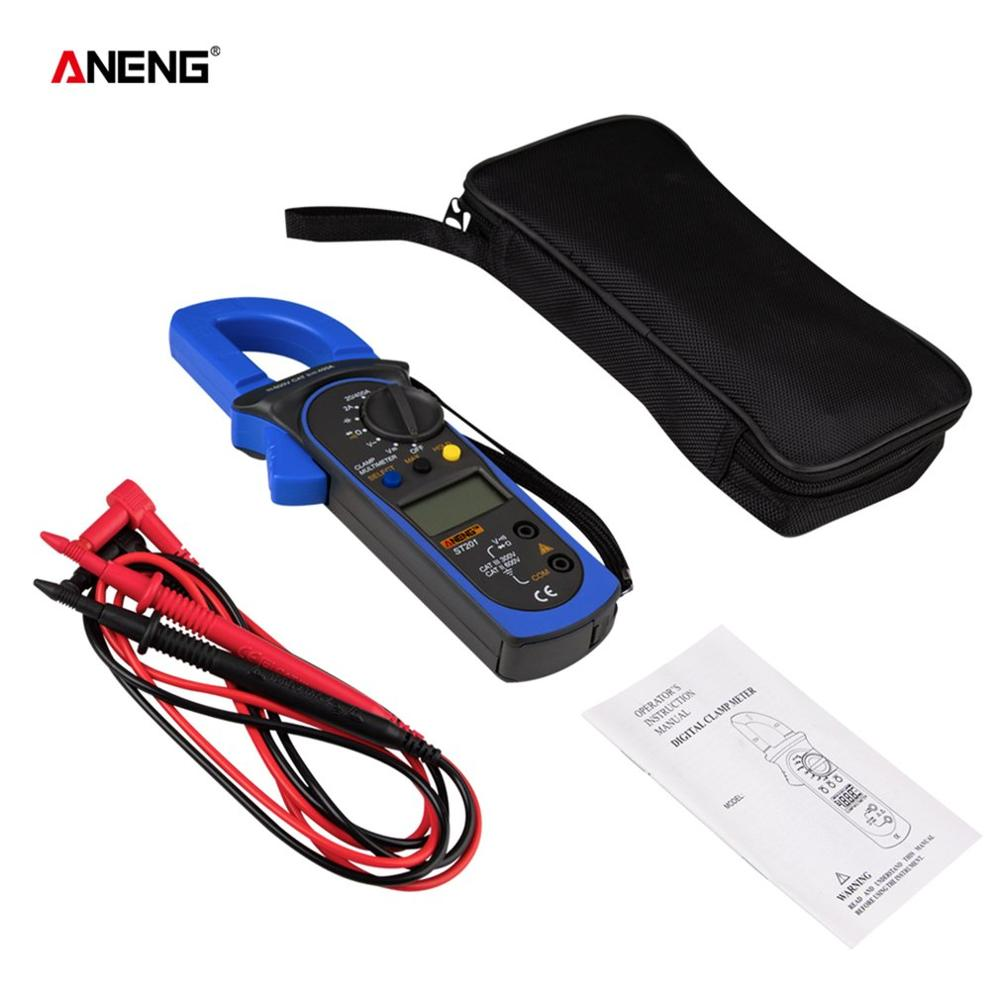 ANENG ST201 1999 Counts Digital Clamp Meter Multimeter DC/AC Voltage Ammeter Resistance Capacitance Diode Tester Data Hold