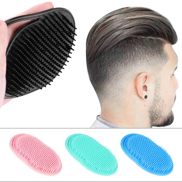 1 PCS Shampoo Comb Pocket Men Beard Mustache  Scalp Massage Black Hair Care Travel Portable Hair Comb Brush Styling Tools