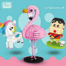 LOZ Mini Diamond Building Blocks Anime Action Cartoon Pink Panther Model Educational Bricks DIY Toys for Children birthday gift loz london tower bridge building bricks diy blocks toy action figure kids educational toys