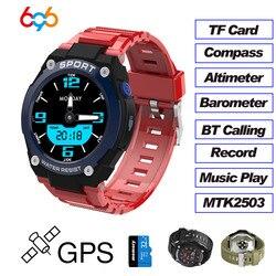 696 dt97 esportes profissionais gps relógio inteligente/pulseira/banda homem ao ar livre bluetooth chamando freqüência cardíaca à prova dwaterproof água compassos relógios
