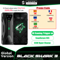 Глобальная версия черного цвета с изображением акулы 3 8 ГБ 128 Snapdragon 865 5G для телефона с мотивами игр Octa Core 64MP тройной AI камерами 65 Вт Зарядное ...