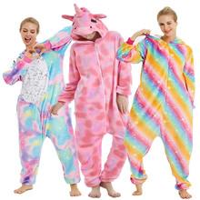 Kobiety Kigurumi jednorożec piżamy ustawia flanelowe Kigurumi piżamy dzieci kobiety zima Nightie z kapturem piżamy piżamy Cartoon Homewear tanie tanio TINOLULING Poliester Unisex Pełna REGULAR 85-95-105-115-125-S-M-L-XL Pasuje mniejszy niż zwykle proszę sprawdzić ten sklep jest dobór informacji