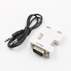 Image 3 - Hot HDMI Weiblichen Zu VGA Stecker Konverter Mit Audio Adapter Unterstützung 1080P Signal Ausgang Konverter + Audio Kabel L3FE