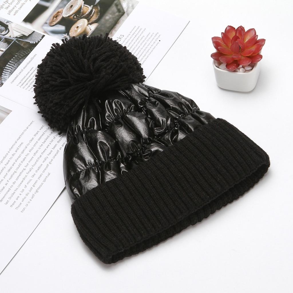 Winter Beanie Hat 2019 Fashion Simple Winter Hat For Women Warm Knitted Hats Solid Casual Winter Warm Hat Czapka Zimowa Chapeu