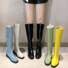 2019 New Colorful Fall Boots Women Fashion Over The Knee Green Yellow Bule White Platform Black