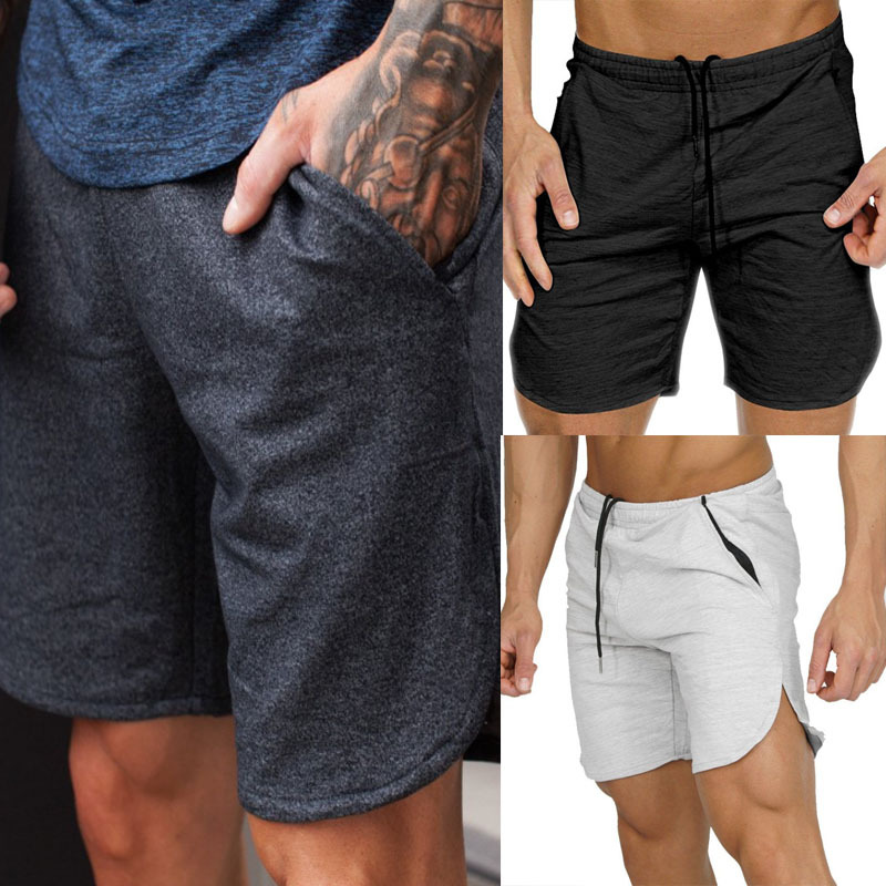 AliExpress For Men Solid Color Gym Shorts Casual Pants D201