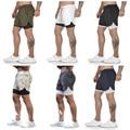 Мужские спортивные шорты, быстросохнущие спортивные штаны для фитнеса и тренировок, пляжные шорты для бега, тренажерного зала, бега, шорты 2 ...