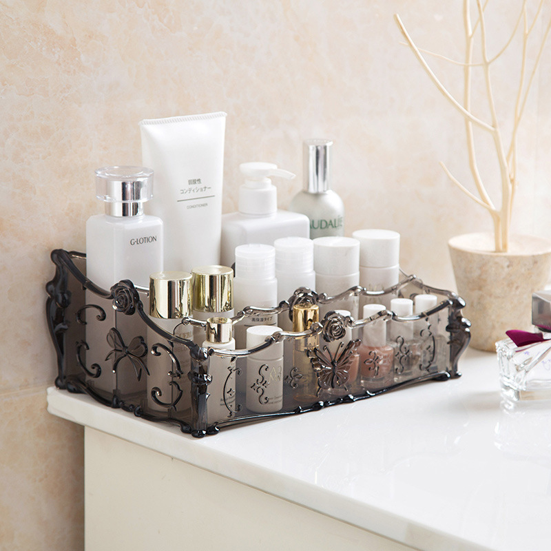 Plastic Box Cosmetic Make-Up-Organizer Household-Items Transparent Storage-Box Skin-Care
