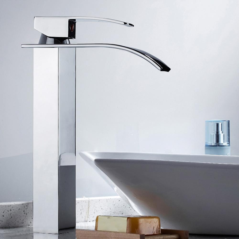 Bathroom Sink Faucet Waterfall Bathroom Faucet Basin Faucet Vanity Vessel Mixer Tap Torneira Do Banheiro