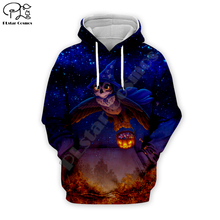 Day of dead Halloween cosplay owl pumpkin print Men 3d Hoodies galaxy Sweatshirts harajuku Streetwear Autumn women Tracksuits