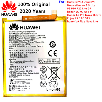 2020 Original For Huawei HB366481ECW Rechargeable Li-ion phone battery For Huawei P9 Ascend P9 Lite G9 honor 8 5C G9 3000mAh