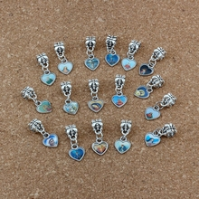 40pcs Enamel Heart of Jesus Christian cross Dangle Charm Beads Fit Bracelet DIY Jewelry 10x23.5 A-529a
