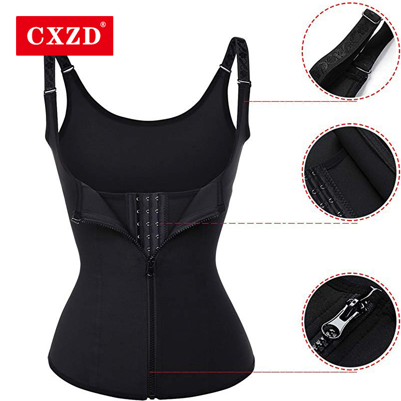 CXZD Plus Size S-4XL Body Shapers Vest Waist Trainer Slimming Vest Shapewear Weight Loss Waist Shaper Corset