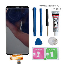 Originele Y7 2018 LCD Voor Huawei Y7 Prime 2018 LCD Display Met Frame Touch Screen Assembly Voor Huawei Y7 Pro 2018 LND LX1 LX2(China)