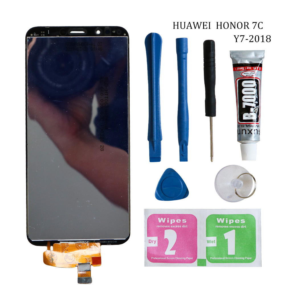 Original Y7 2018 LCD For Huawei Y7 Prime 2018 LCD <font><b>Display</b></font> With Frame Touch Screen Assembly For Huawei Y7 Pro 2018 LND LX1 LX2 image