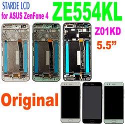 Starde lcd 5.5 for for para asus zenfone 4 ze554kl z01kd lcd display touch screen digitador assembléia peças com quadro e ferramentas gratuitas