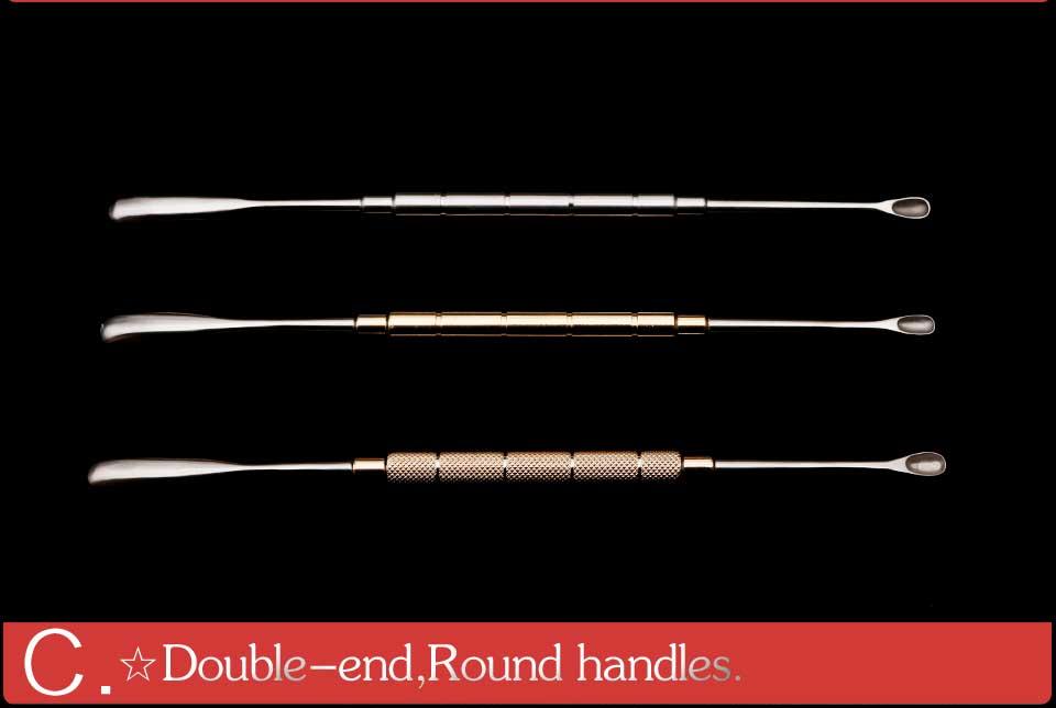 instrumento de funcionamento cirúrgico espátula médica de aço inoxidável