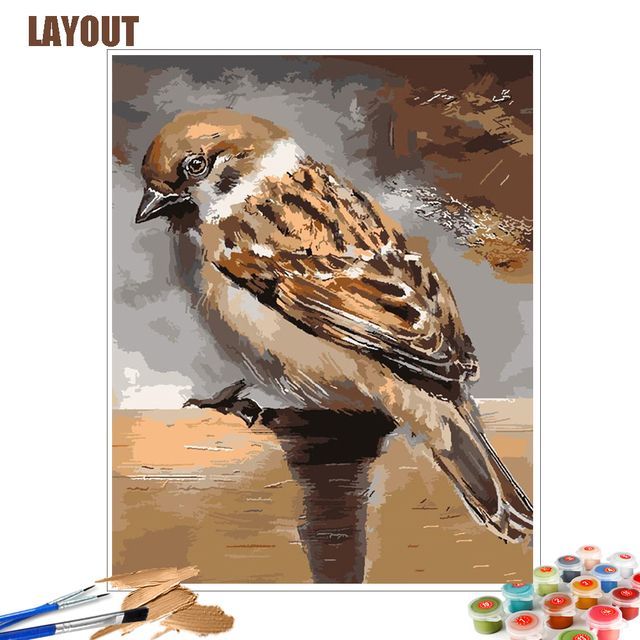 HUACAN Painting By Number Bird Drawing On Canvas Hand Painted Paintings Art Gift DIY Pictures By Numbers Animal Kits Home Decor