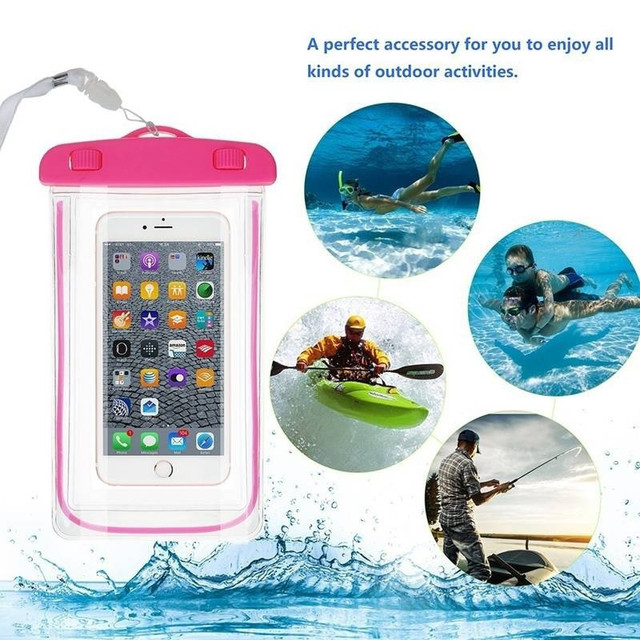 Summer Luminous Waterproof Pouch Swimming Gadget Beach Dry Bag Phone Case Cover Camping Skiing Holder For Cell Phone 3.5-6Inch 3