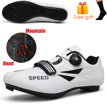 Discolor Cycling Shoes Man MTB Mountain Bike Shoes SPD Cleats Road Bicycle Shoes Sports Outdoor Training Cycle Sneakers 8