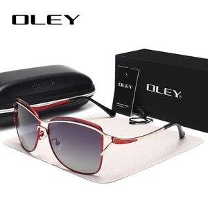 Image 4 - OLEY Brand Designer Big Frame Sunglasses Butterfly Shades For Women Fashion Quality Female Polarized glasses UV400 Y7215