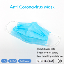 Non Woven Disposable Face Masks Ear Loop Anti-dust Anti-virus 3 Layers Surgical Masks