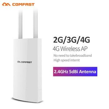 COMFAST CF-E5 yüksek hızlı Internet açık 2.4G ve 4G kablosuz yönlendirici WIFI sinyal desteği DC ve POE kaynağı sınırsız ağ adaptörü