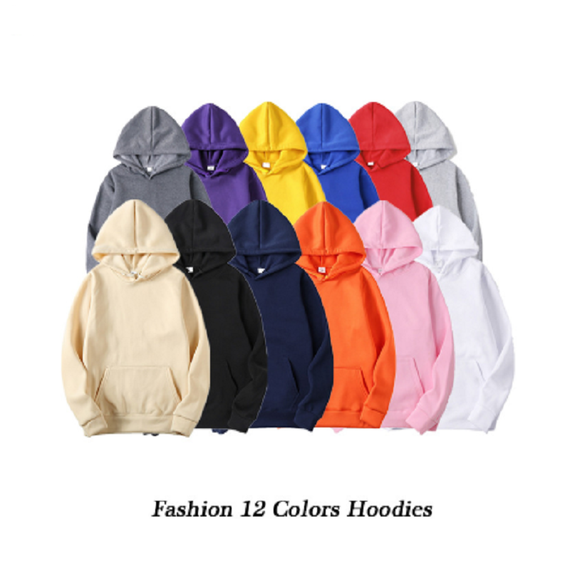 Fashion Brand Men's Hoodies 2020 Spring Autumn Male Casual Hoodies Sweatshirts Men's Solid Color Hoodies Sweatshirt Tops