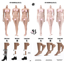 POPTOYS 92003/92004 Xing In Stock 1/6 Scale 255mm Modified Version Female Body 12'' Flexible Suntan/Pale Skin Model for 1:6 Head