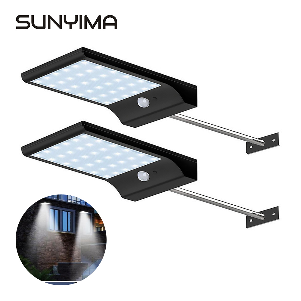 SUNYIMA 36LED Solar Light Waterproof Street Wall Lamp Remote Control Night For Outdoor Garden Patio Spotlight Emergency Home