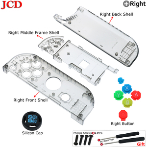 Image 5 - JCD New Housing Shell DIY Transparent Red Blue Replace Cases Customized Cover for NS Nintend for Switch Controller for Joy Con