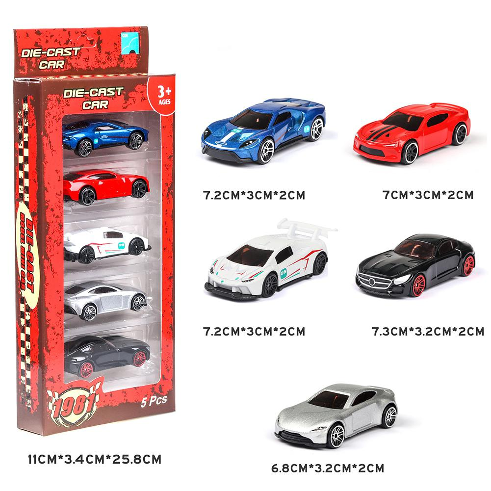 5PCS 1:64 Simulated Children Toy Multi-Style Taxiing Alloy Mini Car Model