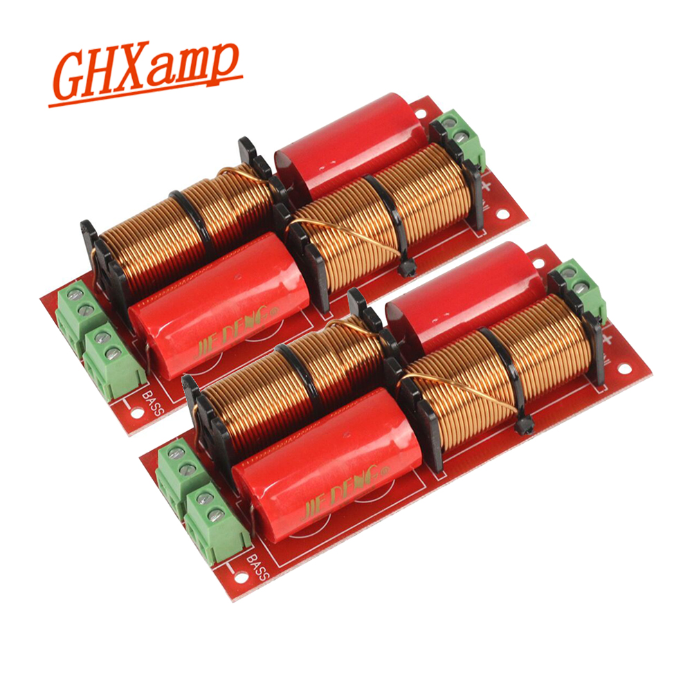 GHXAMP High Grade Speaker 2 WAY Crossover Audio Treble + Bass 2 Units Crossover Speakers Filter Frequency Divider 12db 300W 2PCS