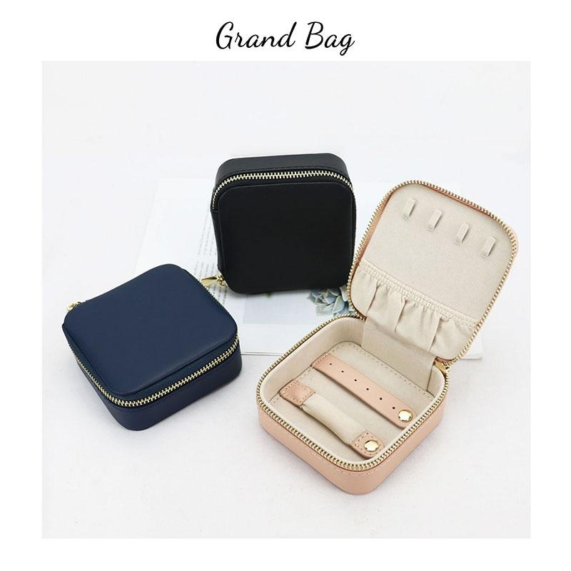Новая женская Подарочная коробка для ювелирных изделий, персонализированный Чехол для ювелирных изделий, чехол органайзер для ювелирных изделий из коровьей кожи, ожерелья, модная коробка для ювелирных изделий|Косметички| | АлиЭкспресс
