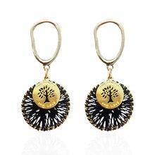 Brincos das senhoras feitas à mão liga brincos jóias pingente nova marca brincos europa e américa jóias brincos acessórios da orelha n