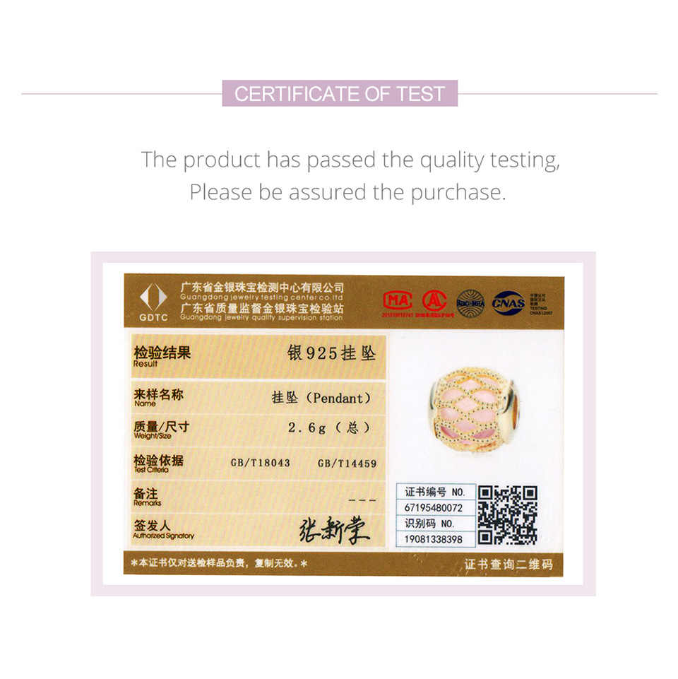 BISAER גבוהה באיכות 100% 925 סטרלינג אינסופי אהבת חרוזים תליוני עבור נשים קסם צמיד DIY תכשיטי מתנות HSC1315