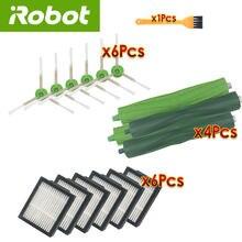 Para irobot roomba i7 plus e5 e6 substituição acessórios robô aspirador de pó hepa filtro escova rolo varrendo peças reposição