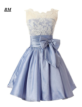 2019 Elegant Cheap A-line Short Sweetheart Lace Prom Dresses Beaded Formal Evening Dress Party Gown Vestidos De Gala BM107 цена и фото