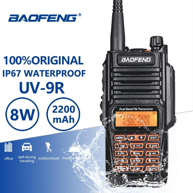 Baofeng UV-9R 8W High Power IP67 PTT Waterproof Walkie Talkie 10 Km UV 9R Woki Toki Two Way Radio Ham CB Radio Communicador UV9R