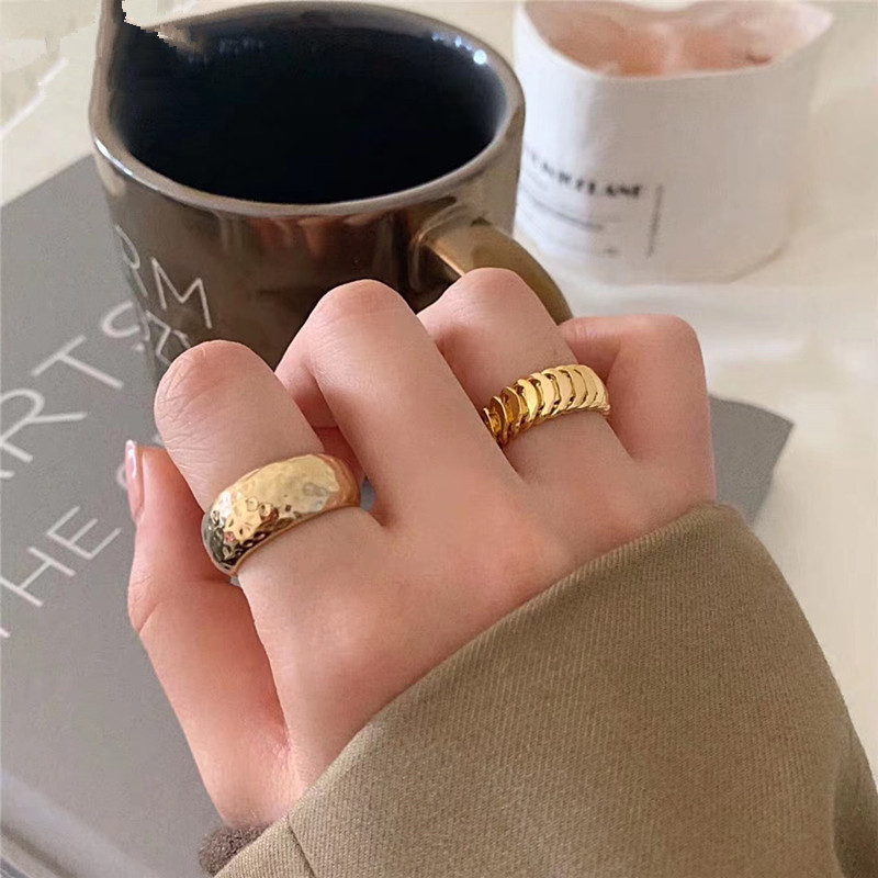 FFLACELL Design Fashion Personality Index finger Ring Chain Geometric Irregular Opening Metal adjustable Ring For Women Gift|Rings|   - AliExpress