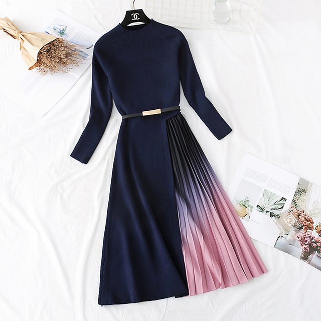 belted colorshade dress  3